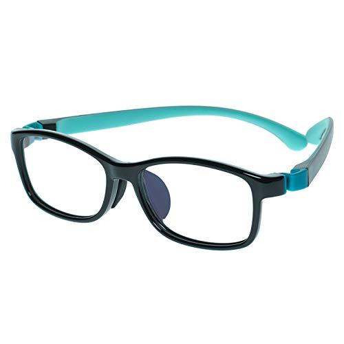 Kinder Kids Brille Teenager Gestell Fassung schick biegsam niedlich Brillenrahmen Gläser klar, ungeschliffen und rund für Jungen Mädchen (Alter 5-12 Jahre)