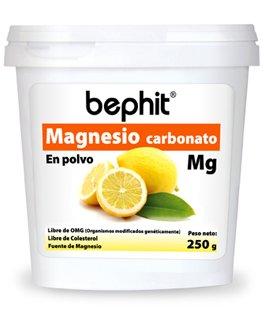 MAGNESIO CARBONATO SABOR CÍTRICO BEPHIT - Polvo bote 250 g