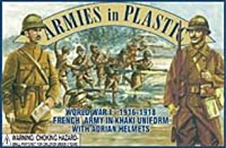 French Army in Khaki Uniforms (20) 1/32 Armies in Plastic