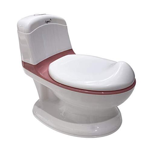 Vasino LUPPEE Duck, vasino interattivo, vasino che suona il suono dell'acqua di risciacquo, contenitore rimovibile, toilette per bambini, accessori per neonati (Pink)