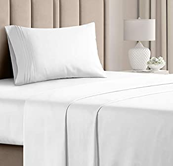 Twin Size Sheet Set - 3 Piece Set - Hotel Luxury Bed Sheets - Extra Soft - Deep Pockets - Easy Fit - Breathable & Cooling Sheets - Wrinkle Free - Comfy - White Bed Sheets – Twins Sheets - 3 PC