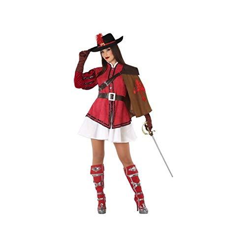 Atosa-61379 Atosa-61379-Disfraz Mosquetera-Adulto Mujer, Color rojo, M a L (61379 , color/modelo surtido