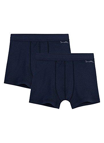 Sanetta Jungen Shorts im Doppelpack aus Bio-Baumwolle - Made in Europe - Neptun (50226), 152