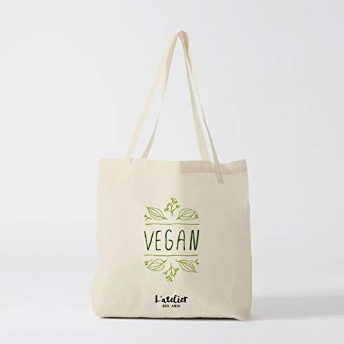 Bolsa de algodón para vegano, bolsa de pañales, bolsa de regalo para clases, bolsa de la compra