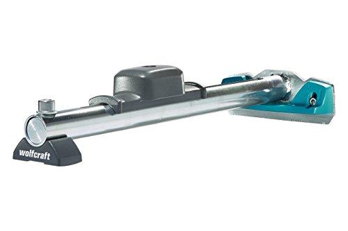 Wolfcraft Hammer-Zugeisen 6945000 – Werkzeug zum Verlegen von Laminat & Parkett – 3-in-1-Funktion – Hammer, Schlagholz und Zugeisen in einem Produkt, silber