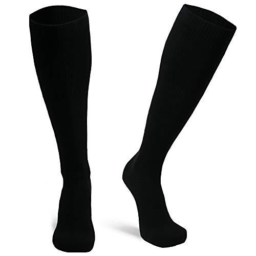 DANISH ENDURANCE Calcetines de Compresión de Algodón Orgánico Pack de 1 (Negro, EU 39-42,)