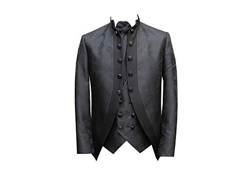 Maokragen Anzug Gehrock vintage dentelle Schwarz 64