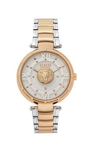 Versus Versace Reloj Analógico para Mujer de Cuarzo con Correa en Acero Inoxidable VSPHH0820