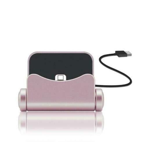 N4U Online® Premium Ladestation Sync Dock Ständer Halter Rose Gold für Asus ZenFone Go 5.0 (LTE)