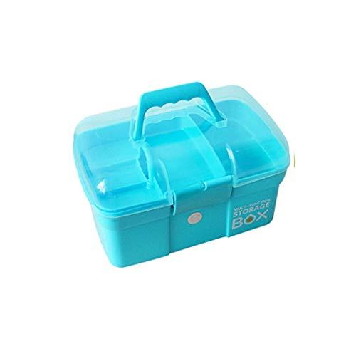 HGJINFANF Ligero y Conveniente, Esencial para Viajes en casa Almacenamiento de Caja médica, Caja de Almacenamiento de Doble Capa contenedor de Primeros Auxilios, Caja Grande de Sundries