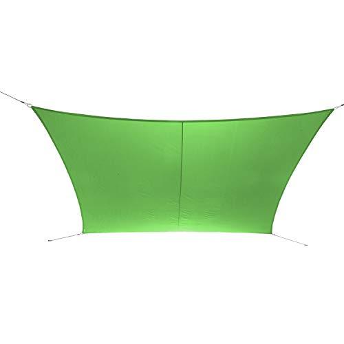 Ribelli Sonnensegel - mit Spannseilen zur Befestigung - Alternative zum Sonnenschirm Größen bis 8 Meter - Eisenringe für erhöhte Stabilität - UV30+ (2x3m, Grün)