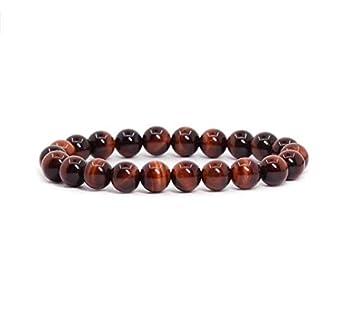 Natural Red Tiger Eye Gemstone Bracelet 7 inch Stretchy Chakra Gems Stones Healing Crystals Birthday Gift GB8-43
