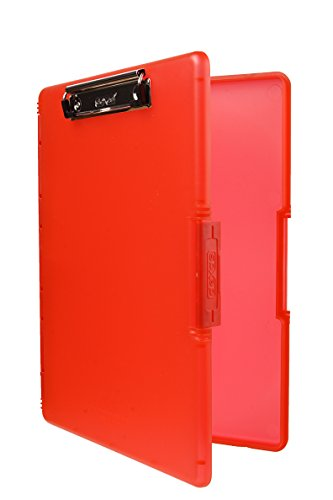 Dexas 3517-J101 Slimcase 2 Storage Clipboard with Side Opening, Strawberry Red