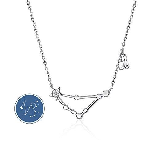 CRYSLOVE 12 Collana con ciondolo a costellazione Collana con ciondolo in cristallo minimalista Oroscopo Astrologia Regali di compleanno per donne Ragazze
