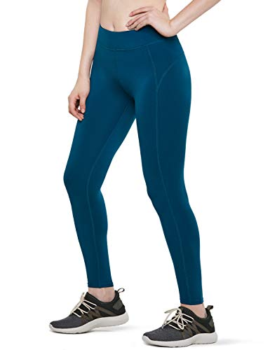 ATHLIO Women's Thermal Yoga Pants, Fleece Lined Compression Workout Leggings, Winter Athletic Running Tights, Single 1pack(lxp71) - Teal, Medium