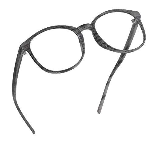 LifeArt Blaulicht-Schutzbrillen, Computer-Lesebrillen, Spielbrillen, TV-Brillen für Frauen, Männer, Blendschutz(Holz,keine Vergrößerung)