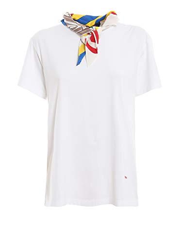 Polo Ralph Lauren T-Shirt con Foulard integrato 211734112001 Bianco Donna XS