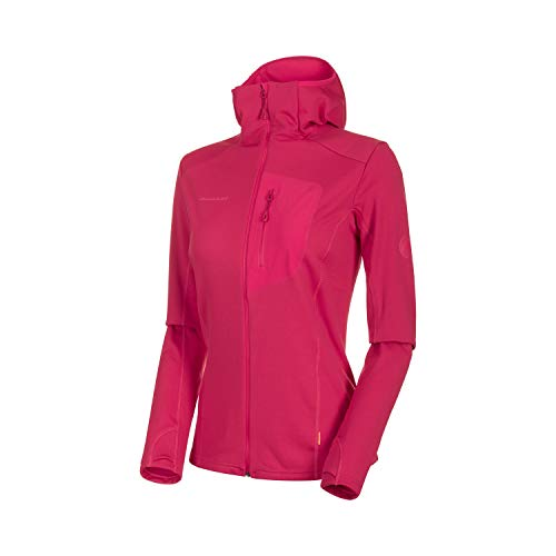 Mammut Damen Aconcagua Light Hooded Midlayer-Jacke mit Kapuze, Dragon Fruit, L