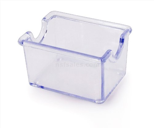 New Star Foodservice 22681 Plastic Sugar Packet Holder, Clear (Pack of 72)