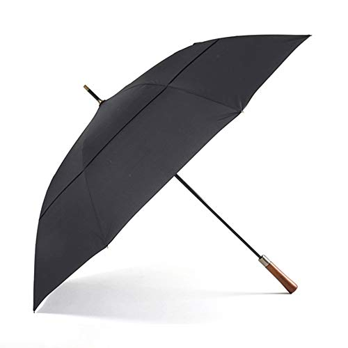 Parachase Large Long Umbrella Rain Men Women Wooden Handle Double...