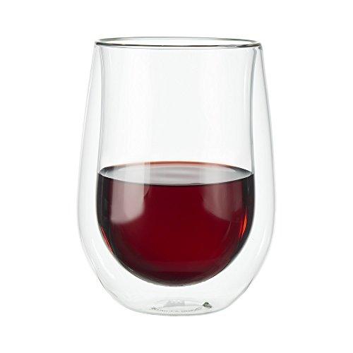 Zwilling 39500–213A doppia parete bicchieri da vino rosso, 12fl. oz.