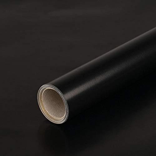 Geschenkpapier Schwarz und Gold zweiseitig bedruckt, glatt, 65 g/m², Geburtstagspapier - 1 Rolle 0,7 x 10 m