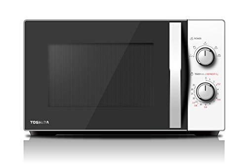 Toshiba MW-MG20P (WH) magnetron met grill 800 W met Crispy Grill 1000 W & Combi-kookplaat, 20 l