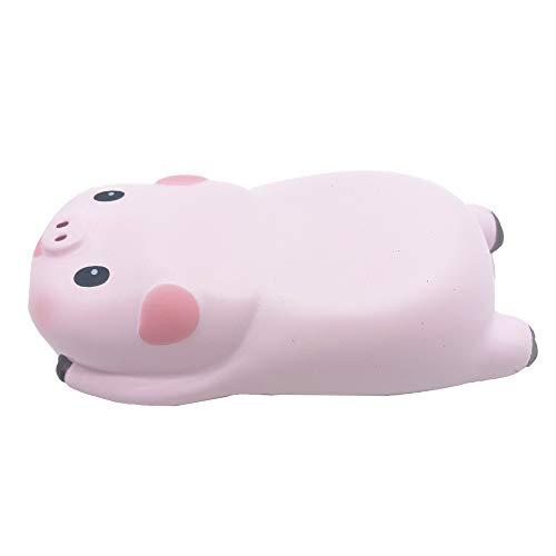 SKYZONAL Memory Foam Mouse Pad Mini Cute Pig Ergonomic Wrist Rest for Mouse Hand Desk Table Decorative (Big Eyes x 1)