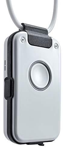 Hausnotruf/Notrufknopf ohne Vertrag mit Sturzmelder, Freisprechtelefon, Rauchalarm-Melder, für Senioren - Dosch&Amand DA1432 Pro (schwarz)