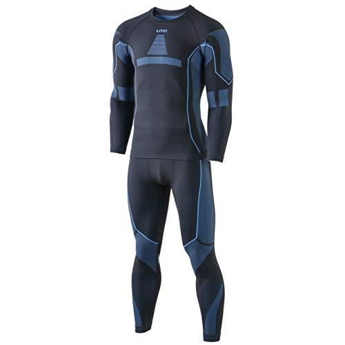 Selighting Herren Funktionsunterwäsche Thermo Skiunterwäsche Warme Unterwäsche Set für Ski Radsport Fitness Laufen (M, Blau)