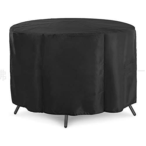 JYW-Covers Housse De Protection, De Plein Air Noir Prime Couverture De Meubles Les Jardins Ronds/Tables / Chaises Imperméable/Crème Solaire,Black