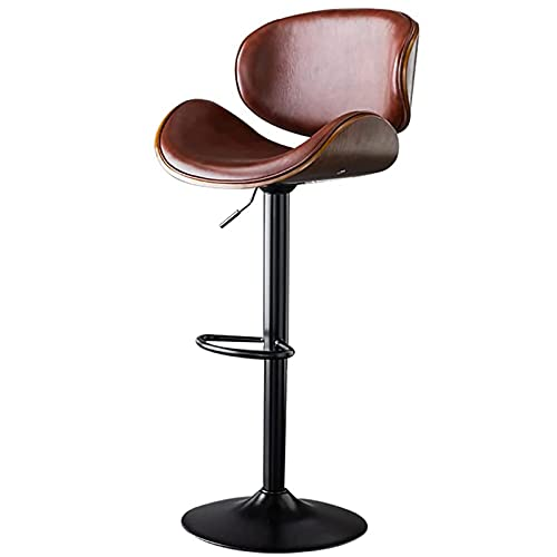 VERDELZ Leather Swivel Bar Stools, Height Adjustment Esthetician Chair | Spa Drafting Lash Stool For Pedicure Drum Tattoo Workbench Chair