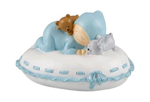 Mopec Y177.3 - figuur taart spaarpot baby kussensloop, 16 x 10 x 14 cm, blauw