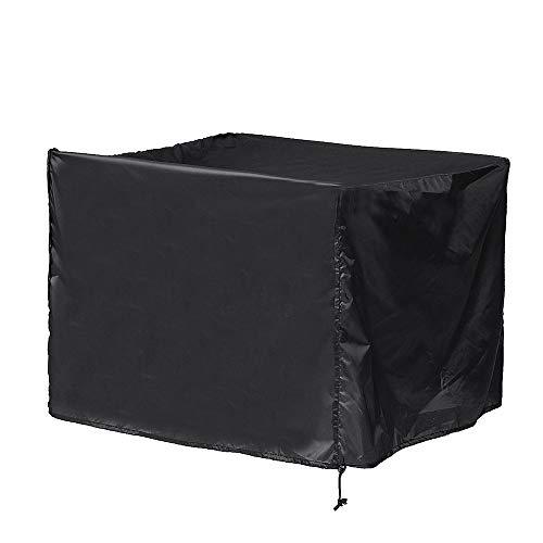 EVFIT Gartenmöbelbezug Platz Black Fire Pit Cover Outdoor Garten Staubdichtes wasserdichte Abdeckung Gartentisch Möbel (Color : Black, Size : 82x82x61cm)