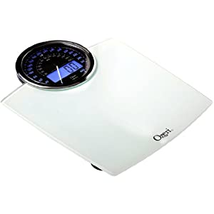 Ozeri Rev 400 lbs (180 kg) Bathroom Scale with Electro-Mechanical Weight Dial and 50 gram Sensor Technology (0.1 lbs / 0.05 kg), White