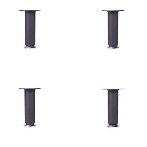 4x Möbelstützbeine, Stahlmaterial nicht leicht zu rosten Geeignet für TV-Schränke Badezimmerschränke und andere Möbel/Schwarz / 30cm