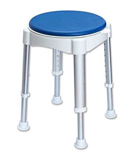 Rollafit Duschhocker rund höhenverstellbar um 360 Grad drehbar belastbar bis 150 kg