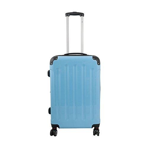 Trendyshop365 Mauritius II - Juego de 4 maletas de viaje rígidas con ruedas, policarbonato, tamaño S, M y L y neceser turquesa turquesa Koffer (M)