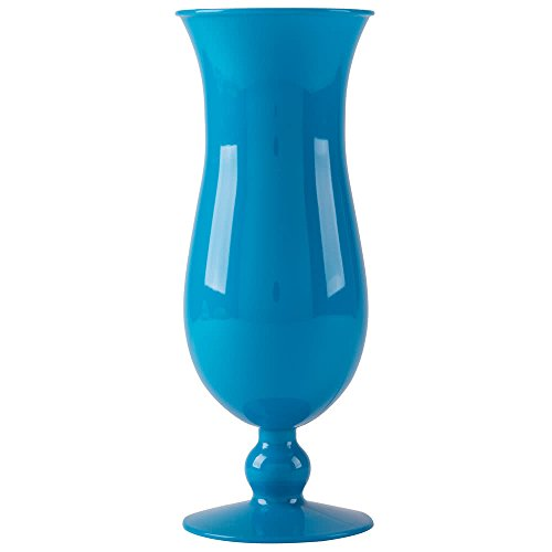 GET HUR-1-BL-EC Cheers BPA-Free Break-Resistant Plastic Hurricane Glasses, 15 Ounce, Blue (Set of 4)