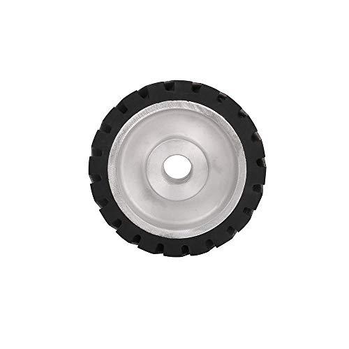 Kontaktrad 150X50mm gezackter Bandschleifer Kontaktrad Gummirad für Schleifband 1St, Wie abgebildet