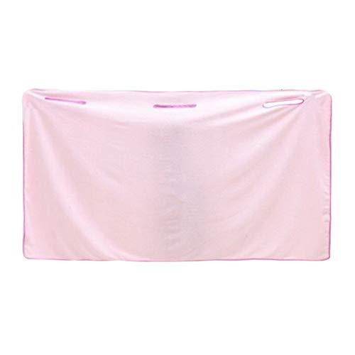 Logicstring Verano Súper Suave Mujer Microfibra Capaz De Usar Batas De Baño Toalla Cómoda Casa Playa Mágica Toallas Albornoces para Adultos (Rosa)