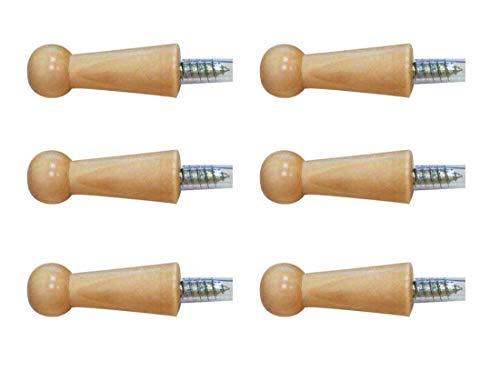 KWODE 6 Stück Kleiderhaken Holz Vintage, Garderobenhaken Bad, Wandhaken / Wand Haken Design, Huthaken Türhaken Mantelhaken Hakenleiste
