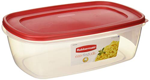 Rubbermaid Plastic Easy Find Food Storage Container, BPA-Free, 40 Cup / 2.5 Gallon, Pack of 2