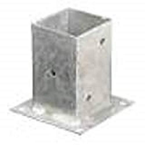 Holz Technic fe500025–Pie di pilastro di paralume quadrato, acciaio galvanizzato, 91x 91mm) colore: bianco