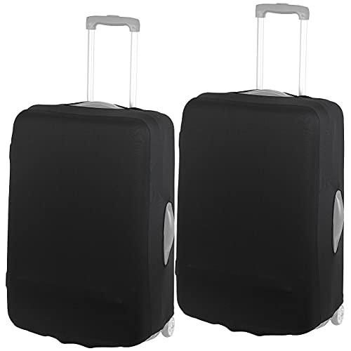Xcase Reisekoffer-Schutzhülle: 2er-Set elastische Schutzhülle für Koffer bis 66 cm Höhe, XL (Koffercover)