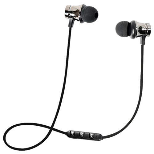 Dorical Bluetooth Kopfhörer, Kabellos Headset, BT 4.1 Stereo Kopfhörer Headset Kabellos Magnetisch Im Ohr Ohrhörer Kopfhörer Sale (One size, Schwarz)