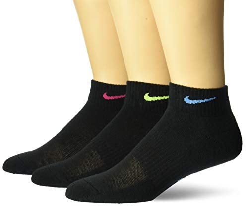 Nike Everyday Calcetines, Mujer, Black Vp, M/EU 36.5-39