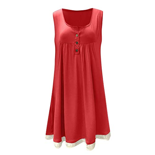 Best Bargain Mlide Womens Summer Dress 2020 New Casual Tank Top Loose Dresses Round Neck Oversize Mi...