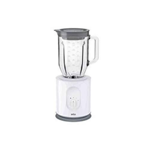 Braun JB5050 - Batidora de vaso, 900 W, 1.6 L, cristal, blanco
