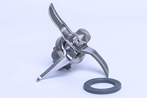 Hochwertiges Ersatz Messer Mixmesser inklusive Dichtung geeignet für Vorwerk Thermomix TM21 TM 21 aus rostfreiem Edelstahl